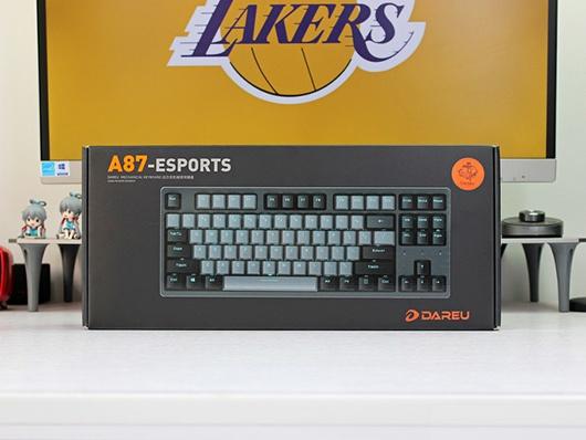 达尔优A87机械键盘紫金版上手实测,一股霸气外露的配色!
